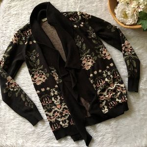 Staring at Stars Patterned Open Cardigan